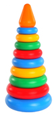 Развивающая игрушка Пирамидка с оранжевым конусом, Тигрес, оранжевый конус от Тигрес