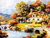 Уютный дом у реки,40 х 50 см