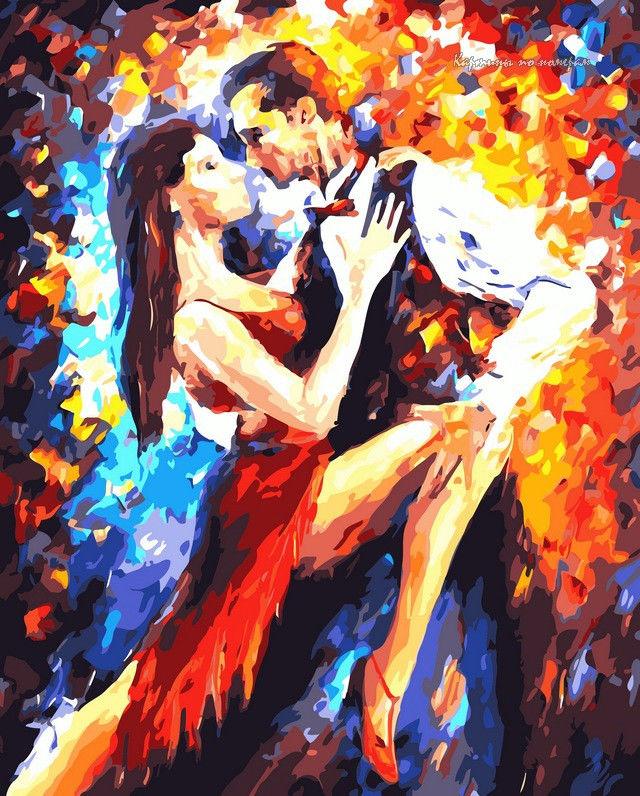 Танго в Париже,40 х 50 см