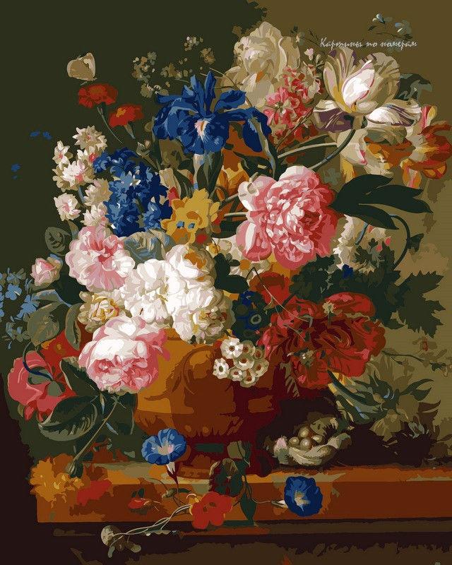 Натюрморт с цветами,40 х 50 см