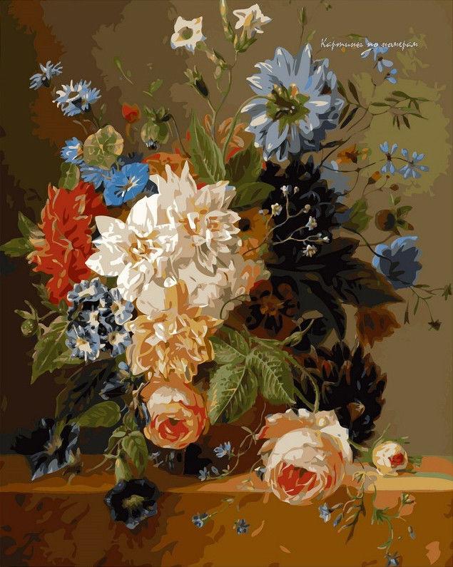 Роскошные цветы,40 х 50 см