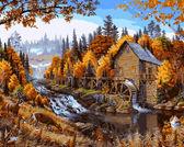 Дом в лесу,40 х 50 см