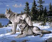 Волки на снегу,40 х 50 см