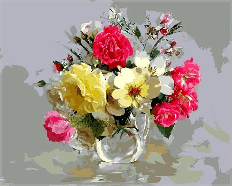 Букет из шиповника и полевых цветов,40 х 50 см