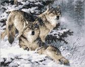 Пара волков,40 х 50 см