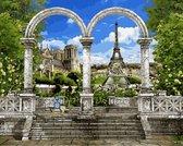 Париж. Арка и вид на Эйфелеву башню,40 х 50 см