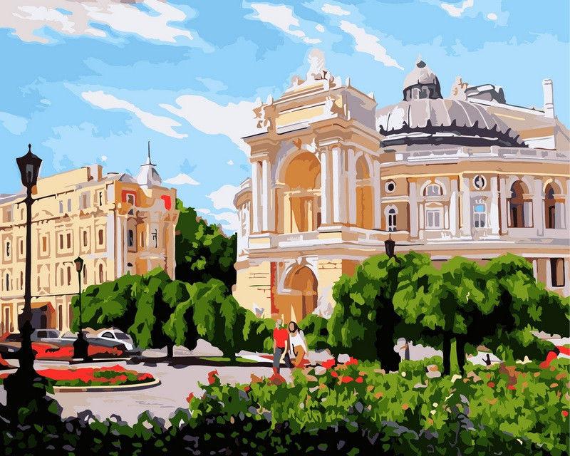 Одесса. Оперный театр летом,40 х 50 см