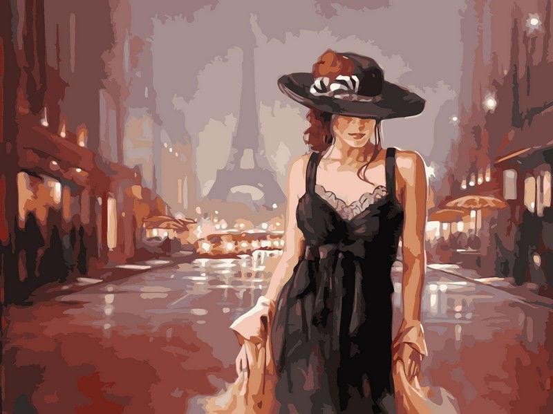 Париж в стиле ретро,40 х 50 см