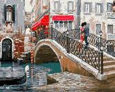 Мост влюбленных,50 х 65 см