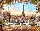 Кафе с видом на Эйфелеву башню,50х65 см