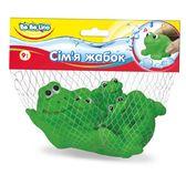 Набор игрушек для купания Семья лягушек (укр. упаковка), BeBeLino от BeBeLino (Бебелино)