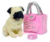 Собачка CCL Мопс с сумочкой и браслетом для девочек, 20 см, Chi Chi Love от Chi Chi Love