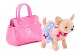 Собачка CCL Чихуахуа Розовая фантазия, с сумочкой и браслетом для девочки, 20 см, Chi Chi Love от Chi Chi Love