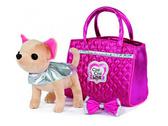 Собачка CCL Чихуахуа Модный гламур, с накидкой, бантом и  сумочкой, 20 см, Chi Chi Love от Chi Chi Love