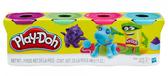 Пластилин - набор из 4 баночек, Play-Doh, фиол. зелен. розовый, бирюза