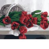 Корзина с тюльпанами, 40x50см