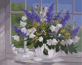Цветы на подоконнике худ. Шольнхаммер Хайнц 40 х 50 см