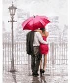 Влюбленные под красным зонтом40 х 50 см