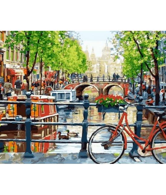 Прогулка на велосипеде, Амстердам  40 х 50 см