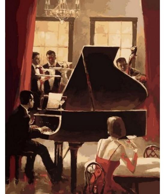 Джаз на пианино 40 х 50 см