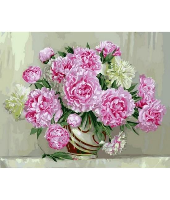 Розовые пионы  40 х 50 см
