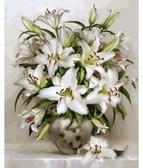 Белоснежные лилии  40 х 50 см