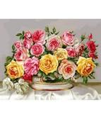 Розовое великолепие 40 х 50 см