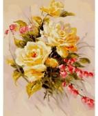 Желтые розы 40 х 50 см