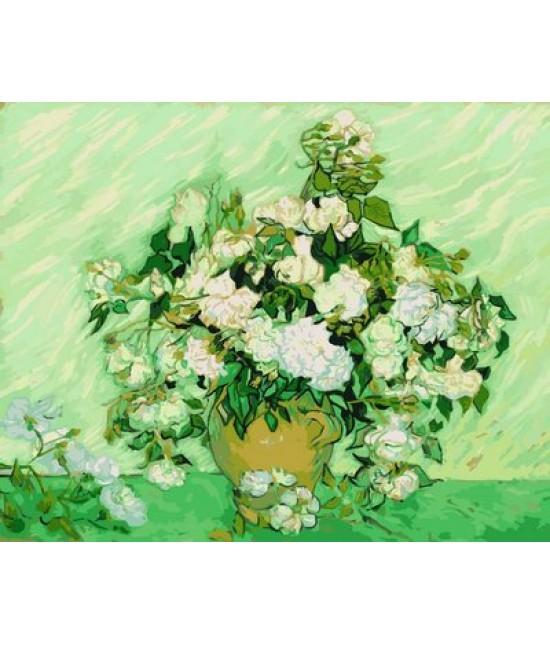 Ваза с розами 40 х 50 см