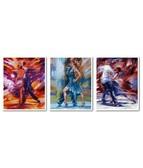 Триптих Танец страсти 120 х 50 см