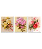 Триптих Нежные розы 120 х 50 см
