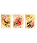 Триптих Красота роз  120 х 50 см