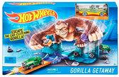 Трек Побег от гориллы, серии Гонки в городе, Hot Wheels, Mattel, побег от горилы