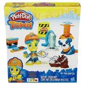 Дорожный рабочий и щенок - набор с пластилином Play-Doh Town, Play-Doh, Дорожний рабочий и щенок