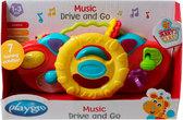 Развивающая игрушка Музыкальный руль, желтый, Playgro, Желтый руль от PLAYGRO