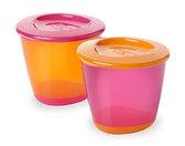 Баночка с крышкой для еды, фиолетово-оранжевая (2 шт), Tommee Tippee, фиол.-оранж. от Tommee Tippee(Томми Типпи)