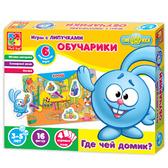Игра с липучками Обучарики. Где чей домик? (VT2307-02). Vladi-Toys от Vladi Toys (ВладиТойс)