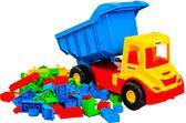 Multi truck грузовик с конструктором  (сине-желтая кабина), Wader, сине-желтая кабина от Wader