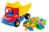 Multi truck грузовик с конструктором (красно-синяя кабина), Wader , красно-синяя каб. от Wader