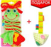 Вибро-подвеска Лягушка с прорезывателем, Масик, Vladi Toys от Масик