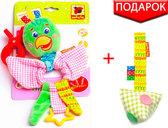Вибро-подвеска Попугай Шалун с прорезывателем, Масик, Vladi Toys от Масик