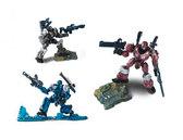 Робот MARS. Три фигурки с опорой, Hap-p-kid, красн. серый синий