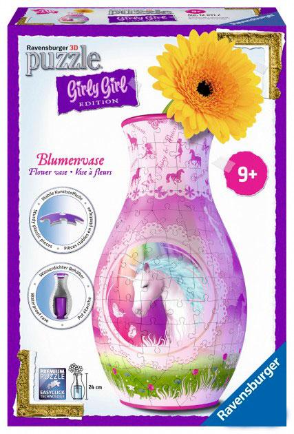 Пазл 3D Girly Girl Ваза Единорог, 216 эл., Ravensburger