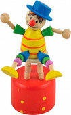 Дергунчик Клоун на стуле, Мир деревянных игрушек от Мир деревянных игрушек