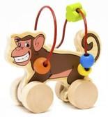 Лабиринт-каталка Обезьяна, Мир деревянных игрушек от Мир деревянных игрушек