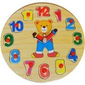 Часы Мишка, Мир деревянных игрушек от Мир деревянных игрушек