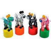 Дергунчик Зебра,  Мир деревянных игрушек от Мир деревянных игрушек