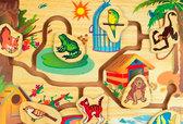 Лабиринт Кто где живет, Мир деревянных игрушек от Мир деревянных игрушек
