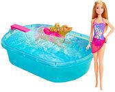 Набор с куклой Barbie Бассейн для щенков, Barbie, Mattel от Barbie (Барби)