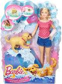 Набор с куклой Barbie Веселое купание щенка, Barbie, Mattel от Barbie (Барби)